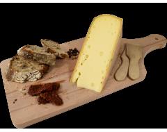 Planche Raclette Badoz au lait cru au Vin Blanc du Jura