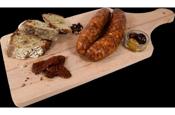 Planche Saucisse de Montbéliard IGP Tuyé du Papy Gaby