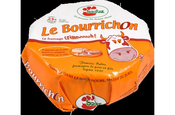 Fromage Le Bourrichon Badoz emballé au lait pasteurisé